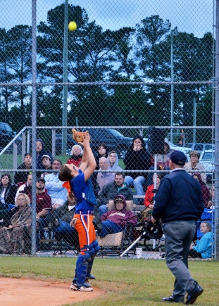Kinley Killough snaggs a popup foul