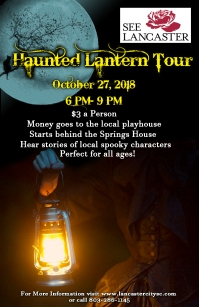 Haunted Lantern Tour Poster